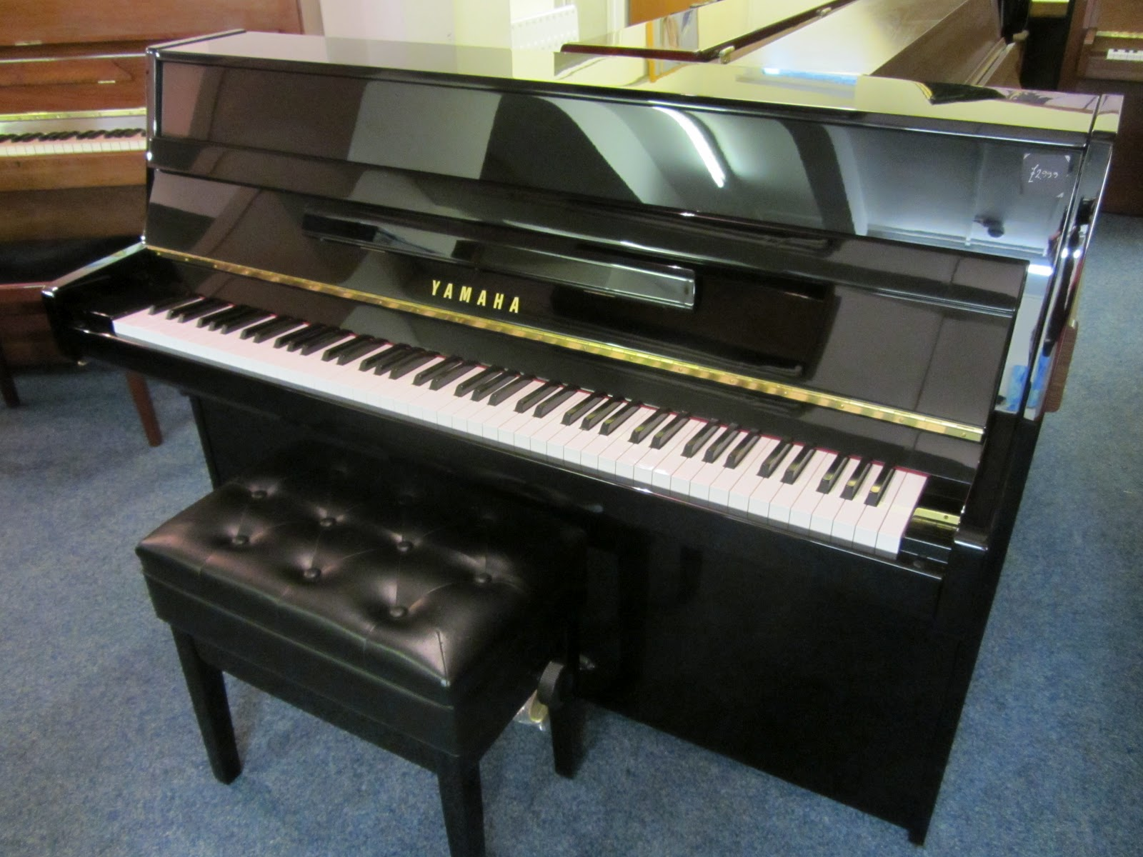 Small Upright Black Yamaha Piano Used